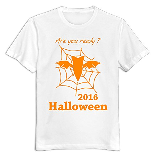 Maquic78h Men's Happy Halloween Day 100% Cotton O Neck T-Shirt White US Size 3X -