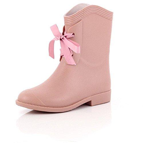 pioggia pink stivali da casuale signore di modo 8qw4f6P