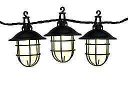 GKI/Bethlehem Lighting 15 Light Harbor LEDs on Black Wire, Warm White, 9 by 18 by 9-Inch