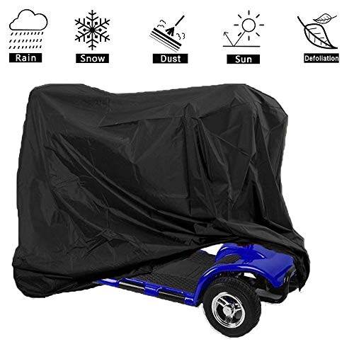 (VVHOOY Waterproof Scooter Storage Cover for Electric Wheelchair 4 Wheel Travel Power Scooter Mobility Dust Snow Rain Sun Protect Cover(66.9x24x46inch,Black))