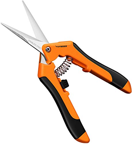 VIVOSUN Gardening Hand Pruner Pruning Shear with Straight Stailess Steel Blades
