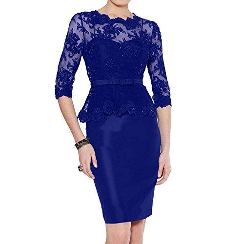 Navy Partykleider Kurz Etuikleider Promkleider Blau Blau Knielang Braut Spitze La Festlichkleider Royal Abendkleider mia Damen 8wtpqtU