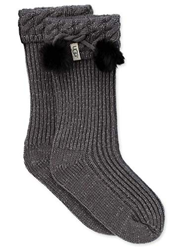 UGG Girls' Big Raana Pom Rainboot Sock, Charcoal/Silver, for sale  Delivered anywhere in USA