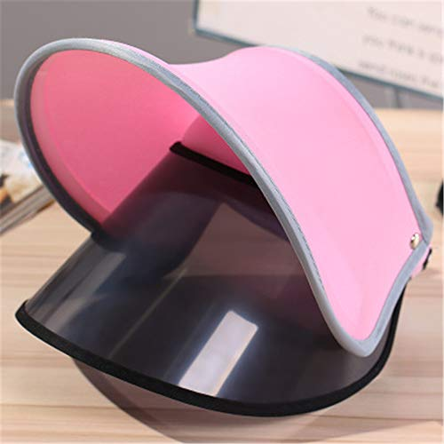 - Summer Outdoor Retractable Sun Visor Cap hat Cap Women Girls uv whitening Ride Empty top Fan bingbing Dress up (Pink (Double)