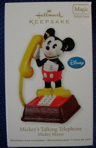 (2011 Mickey's Talking Telephone Mickey Mouse Magic Hallmark Ornament)