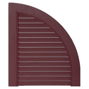 Mid-America 00 97 0002 167 Bordeaux 14 1/2'' Open Louver Quarter Round Arch Top (Pair) by Mid America (Image #1)