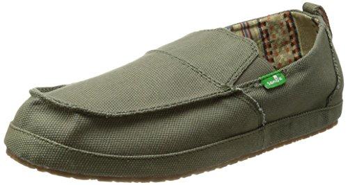 Sanuk Men's Commadore Slip-On Loafer,Olive,9 M US