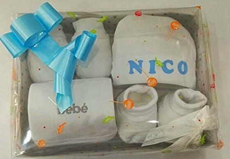 Tienda Cucú set regalo recién nacido color blanco: Amazon.es: Bebé