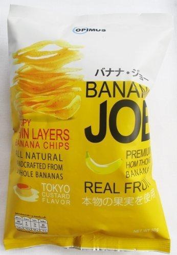 Banana Chips 50 Grams,tokyo Custard Flavor