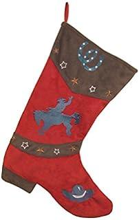 carstens red bronc christmas stocking