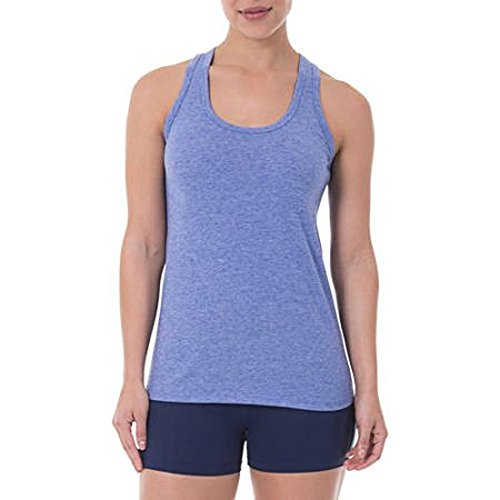 Athletic Works Women's Core Active Racerback Tank Stadium Blue Heather Small (Athletic Works Womens Core Active Racerback Tank)