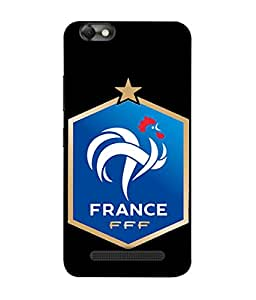 ColorKing Football France 15 Black shell case cover for Lenovo Vibe C