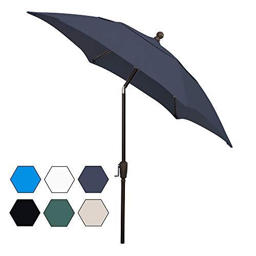 FiberBuilt Umbrellas AZ7HCRCB-T-Navy Blue Patio Umbrella, Navy
