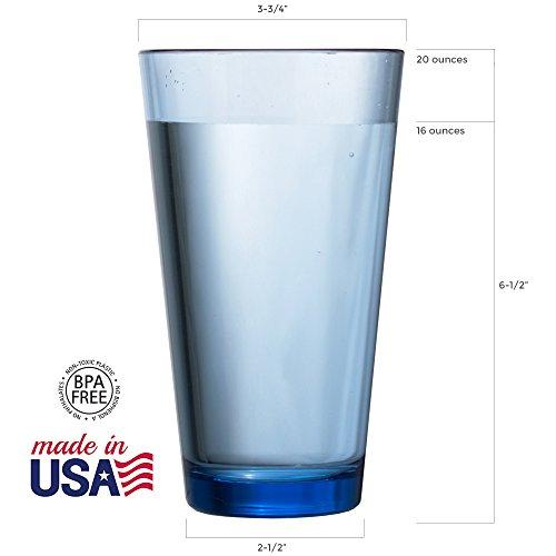 906dc9e0115 Bistro Premium Quality Plastic 20oz Water Tumbler   Set of 6 Multicolor