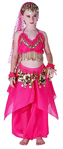 Kids Genie Costume for Girls Teens Arabian Princess Costumes 4T 4 5 6 7 8 10 12 14 16 ()