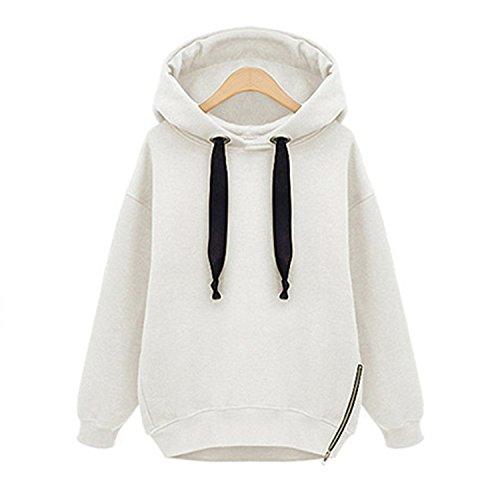 Eault Elegant 4 Colors Plus Size 2016 Winter Autumn Loose Hooded Jacket Thick Long Sleeve Sweatshirt Korean Style Warm Hoodies Blusas WhiteXXL Novelty