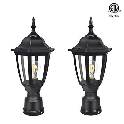 Led 3 Light Outdoor Post Lantern in US - 8