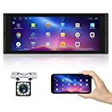"""AMPrime Single Din Car Stereo Radio with Bluetooth 6.9"""" Touch Screen FM Receiver MP5 Car Multimedia Player Support Mirror Link for Phone ,WiFi,GPS, Dual USB Port, Backup Camera ,SWC"""