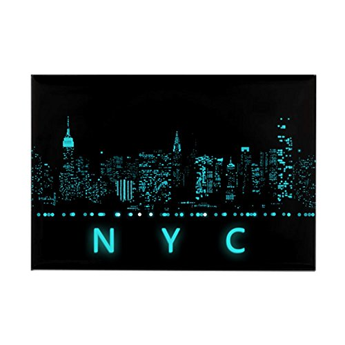 CafePress Digital Cityscape: New York City, Rectangle Magnet, 2