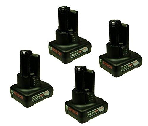 Bosch Akkupack 10,8 V - 4,0 Ah - 4 Stück