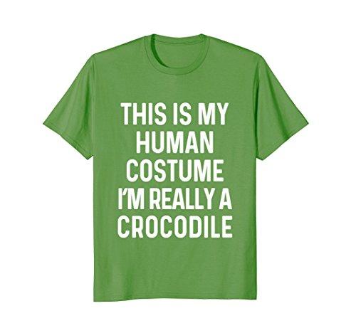 Mens Funny Crocodile Costume Shirt Halloween Adults Kid Men Women 2XL (Mens Halloween Costume Idea)