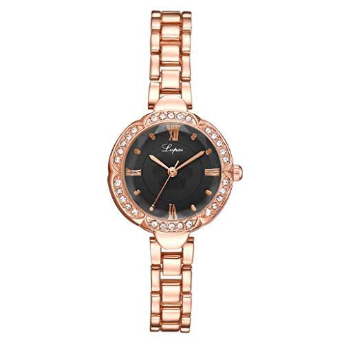 (LUXISDE Watch Women European Beauty Simple Casual Fashion Small and Delicate Bracelet Watch Single B)