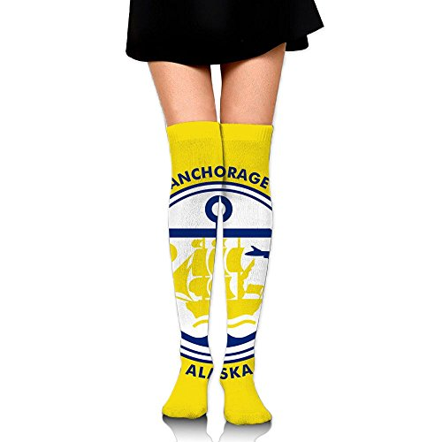 Flag Of Anchorage Compression Socks For Men & Women - BEST For Running, Nurses, Shin Splints, Flight Travel, Skiing & Maternity Pregnancy - Boost Athletic Stamina & - Clothing Anchorage Mens