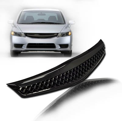 Amazon.com: 2006-2008 Honda Civic 2DR Coupe Mesh Grill Black ...