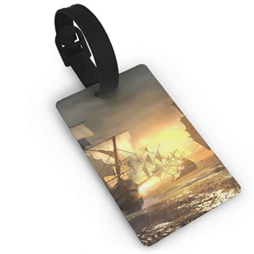 Diemeouk Luggage Tags for Suitcases Ship Assassins Creed PVC Baggage Cards for Cruise Ships -