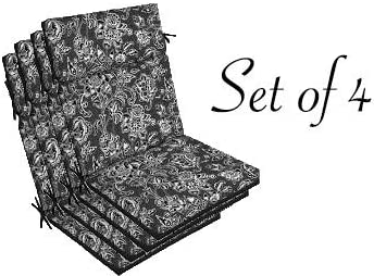 Cheap Comfort Classics Inc. Set of 4 Outdoor Black outdoor chair cushion for sale