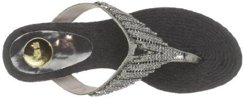 ras 540IDCG - Sandalias de piel para mujer Plateado (Argent (Specchio Anthracite))