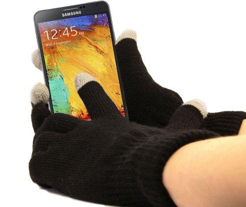 """Gants capacitifs spécial froid pour écran tactile de smartphone Samsung Galaxy Note 3 (N9000, N9002 & N9005 - écran HD 5,7"""") - Taille S (petit)"""
