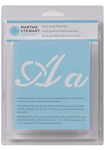 (Martha Stewart Crafts Alphabet Stencil, 32275 Fancy)