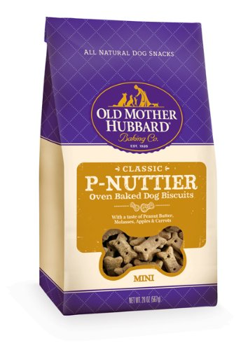 Old Mother Hubbard Crunchy Classic Snacks for Dogs Mini P-Nuttier, 20-Ounce Bag, My Pet Supplies