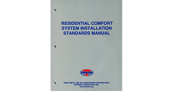 residential comfort system installation standards manual smacna rh amazon com Vinyl Graphics Installation Guide RV Toilets Installation Diagrams