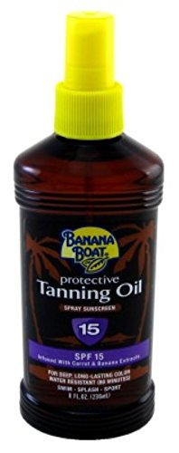Banana Boat Protective Spray Oil, Sunscreen SPF 15 8 oz by Banana Boat