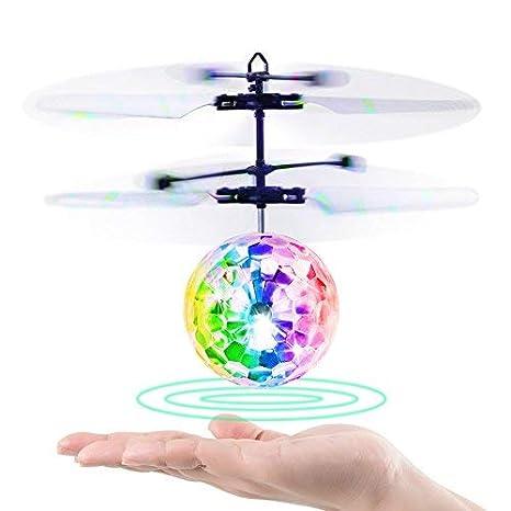 VOYAGO Flying Ball, niños Juguete Mando a Distancia helicóptero ...