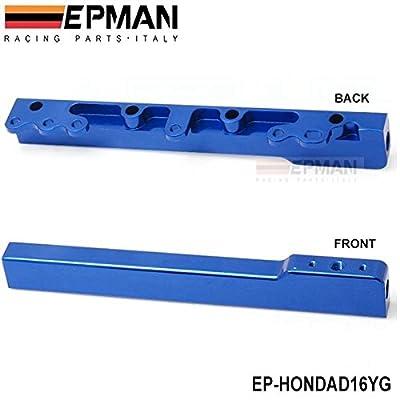 EPMAN High Volume Fuel Injector Rail For Honda D Series Sohc Fuel Rail Kit (Blue): Automotive