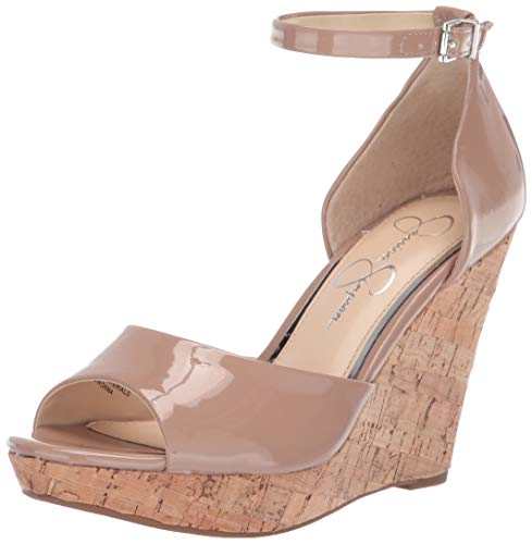 Jessica Simpson Women's JARELLA Sandal, Nude, 8 M - Leather Jessica