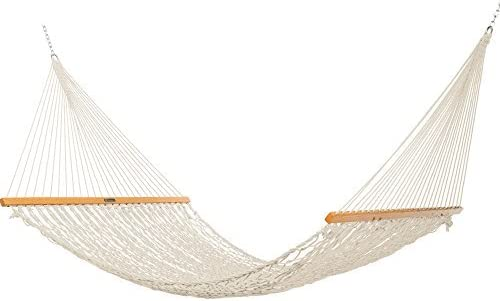 Original Pawleys Island 15DCOT Presidential Oatmeal Duracord Rope Hammock w/ Extension Chains Tree Hooks