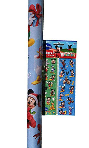 (MICKEY MOUSE ~ Wrapping Paper & Stickers Set ~ Gift)