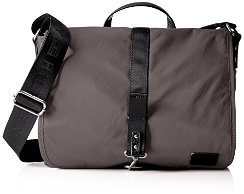 Tommy Hilfiger Messenger Bag for Men Graham, Dark Gull Gray-Pt