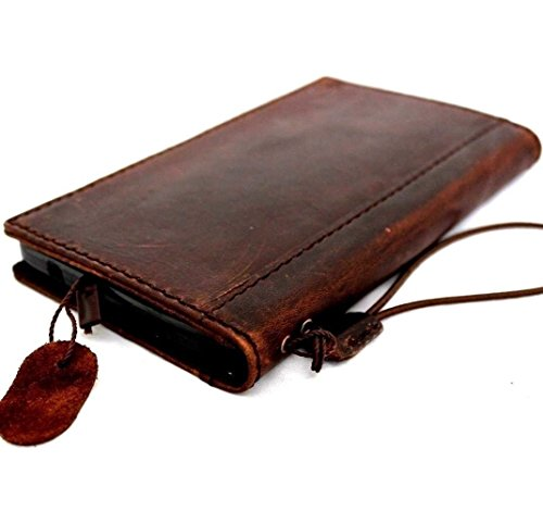 Genuine Leather Case Fit Samsung Galaxy Note 3 Book Wallet Handmade cover slim brown thin Free Shipping daviscase by SHOP-LEATHER (Image #6)