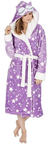 Et Lilac Doux Confortable Femmes Kate Peignoir À Owl Morgan Capuche qIxw88At