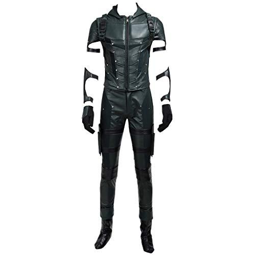 CosplayDiy Men's Costume for Oliver Queen Halloween Cosplay Costume L -