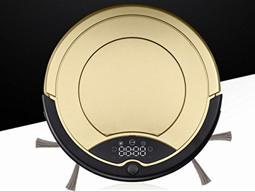 Eonego LCD Display Brush Robot Vacuums,Remote Control Anti-collision Automatic Robotic Cleaner (Gold)