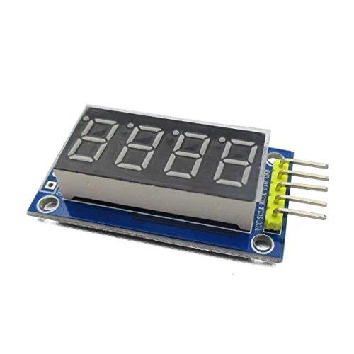Goliton 1pc 4 bit serial 595 driver LED Display Board Digital Tube Display Module with Dupont Line POW.W48.DGX.010.XBL