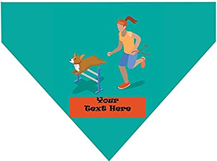 Amazon.com : Personalized Over the Collar Dog Bandana - The ...