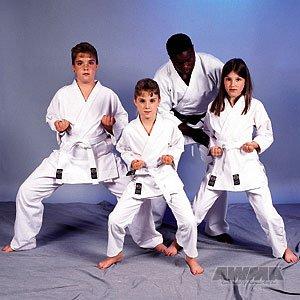 ProForce 8oz 100% Cotton Karate Gi / Uniform - White - Size 1