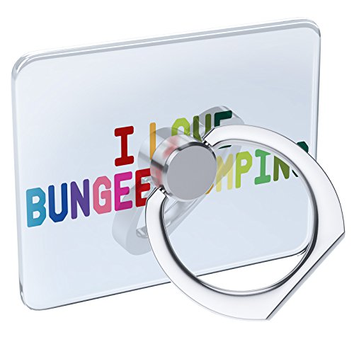 Cell Phone Ring Holder I Love Bungee Jumping,Colorful Collapsible Grip & Stand Neonblond